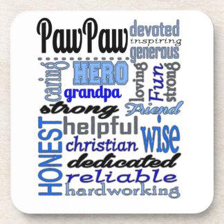 Pawpaw Fathers day strong loyal Grandpa Papa Coasters