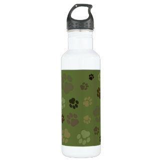 Pawprint Camouflage Water Bottle