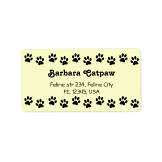 Pawprint custom address lables Paw print