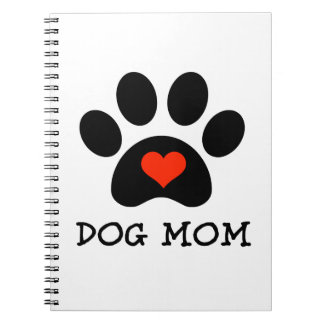 Pawprint Dog Mom Notebook