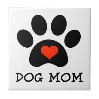 Pawprint Dog Mom Tile