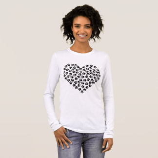 Pawprint Heart Long Sleeve T-Shirt