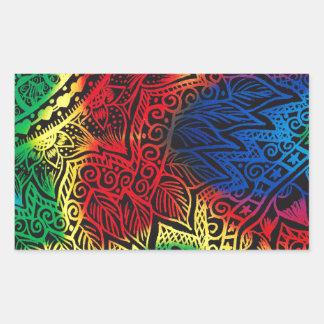 Pawprint Rainbow Sticker