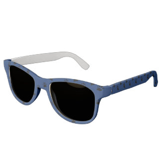 Pawprints - Blue (2) Sunglasses