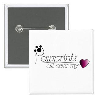Pawprints - button