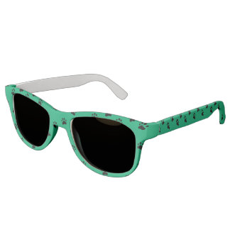 Pawprints Green (2) Sunglasses