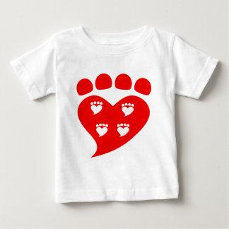 Pawprints Heart Logo T Baby T-Shirt