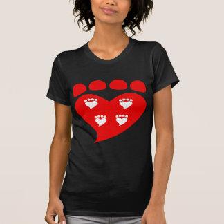 Pawprints Heart Logo T T-Shirt