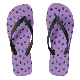 Pawprints Purple (4) Flip Flops
