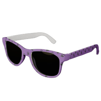 Pawprints Purple (5) Sunglasses