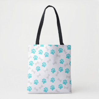 Paws and Bones All over Print Tote bag