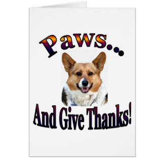 Paws and give thanks card