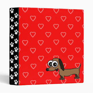 Paws and Hearts Dachshund Binder