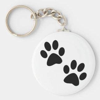 Paws Basic Round Button Keychain