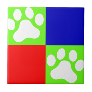 Paws Ceramic Tile