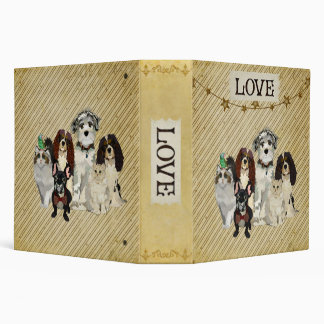 PAWS, CLAWS & FEATHERS LOVE Book Vinyl Binder