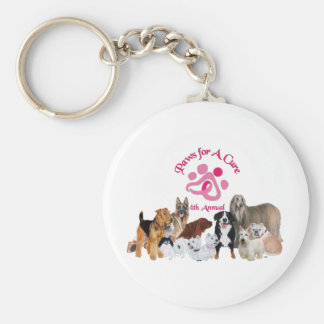 Paws For a Cure Dog Show Keychain