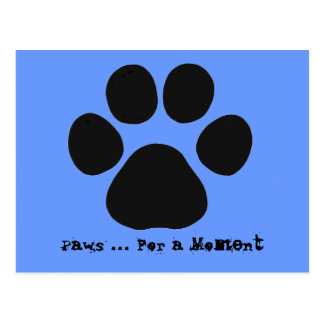 Paws For a Moment Postcard (blue)