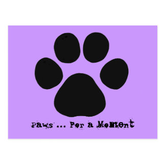 Paws For a Moment Postcard lilac