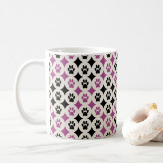 Paws-for-Coffee Mug (Berry)