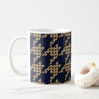 Paws-for-Coffee Mug (Butter/Navy)