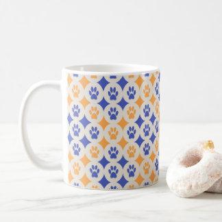 Paws-for-Coffee Mug (Cobalt/Marigold)