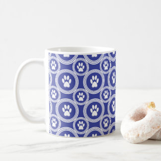 Paws-for-Coffee Mug (Indigo)