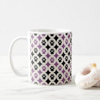 Paws-for-Coffee Mug (Plum)