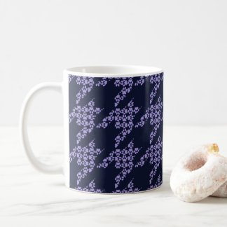 Paws-for-Coffee Mug (Violet/Navy)