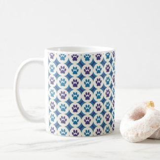 Paws-for-Coffee Mug (Violet/Teal)