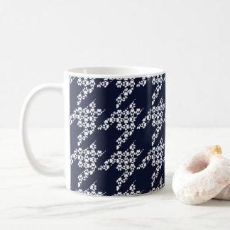 Paws-for-Coffee Mug (White/Navy)
