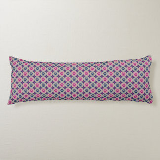 Paws-for-Comfort Body Pillow (Berry/Navy)