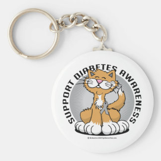 Paws for Diabetes Cat Keychain