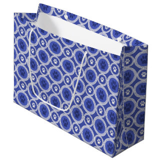 Paws-for-Giving Gift Bag (Cobalt/Navy)