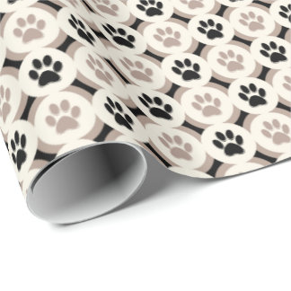 Paws-for-Giving Gift Wrap (Black/Tan)