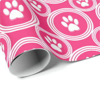 Paws-for-Giving Gift Wrap (Cherry)