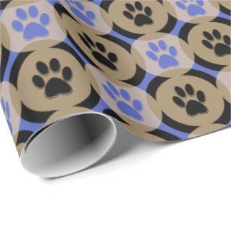 Paws-for-Giving Gift Wrap (Cobalt)