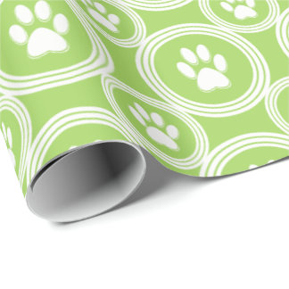 Paws-for-Giving Gift Wrap (Green)