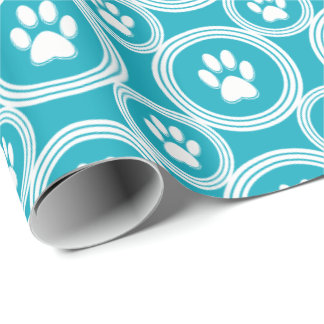 Paws-for-Giving Gift Wrap (Jade)