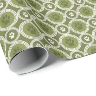 Paws-for-Giving Gift Wrap (Olive)