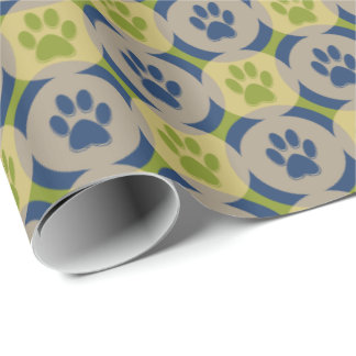 Paws-for-Giving Gift Wrap (Olive/Navy)