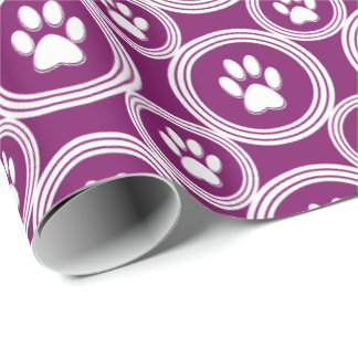 Paws-for-Giving Gift Wrap (Plum)