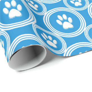 Paws-for-Giving Gift Wrap (Sky)