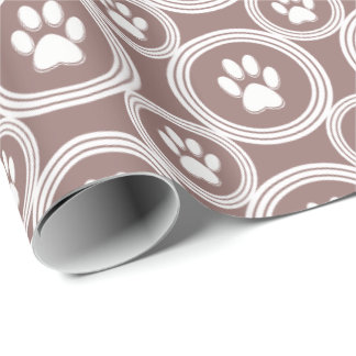 Paws-for-Giving Gift Wrap (Taupe)