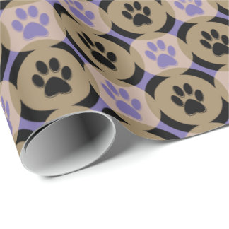 Paws-for-Giving Gift Wrap (Violet)