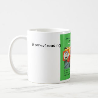paws for reading coffee mug