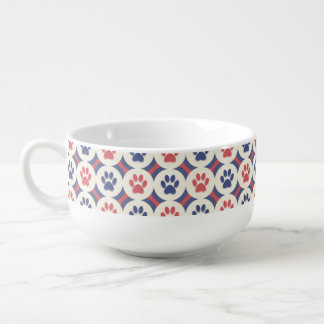 Paws-for-Soup Mug (Cinnamon/Navy)