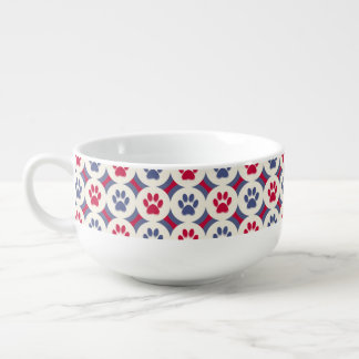 Paws-for-Soup Mug (Red/Navy)
