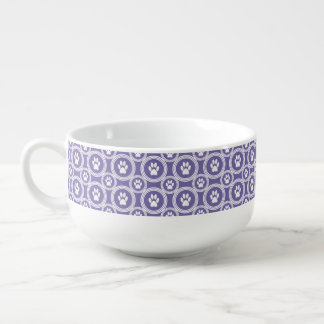 Paws-for-Soup Mug (Violet) Soup Bowl With Handle