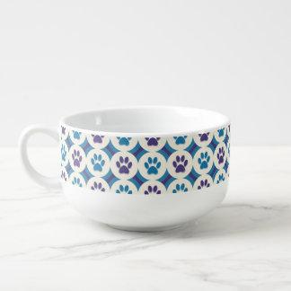 Paws-for-Soup Mug (Violet/Teal)